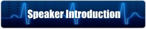 speaker introduction